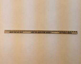 "1"" Scale Miniature Yard Stick"