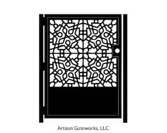 Metal Art Gate - Decorative Steel - Mosaic - Moroccan Steel Gate - Mandala Gate - Geometric  Gate - Steel Art Panel