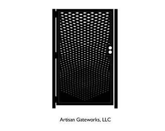 Decorative Steel Gate - Fade - Metal Art - Faded Art Gate - Artistic Steel Panel - Geometric Steel Art Gate - Custom Gate