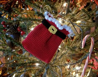 Crochet bell ornamentgift card holder pattern only holiday crochet santas sack ornamentgift card holder pattern only christmas holiday present thread tree decoration negle Choice Image