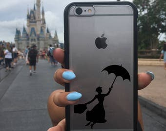 Mary Poppins Decal, Mary Poppins Sticker, Mary Poppins, Phone Cover, Disney Stickers, Disney Vinyl Decals, Disney