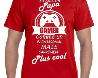 """""""Coolest Gamer Dad"""" tshirt"""