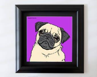 Pug Framed Wall Art