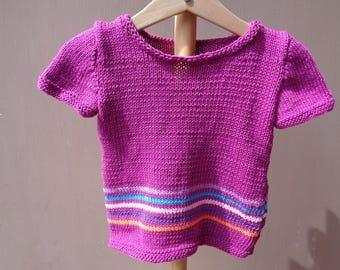 baby girl-18 months tunic dress fuchsia cotton