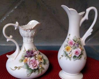 Small Lefton China Vases/Pitchers