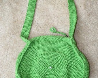 Green Circle Shoulder Bag