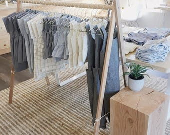 Handmade Clothing Rack - Narrow