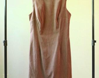 60's Mod Ultra-Suede Dress