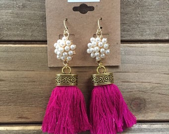 Pearl Flower with Tassels