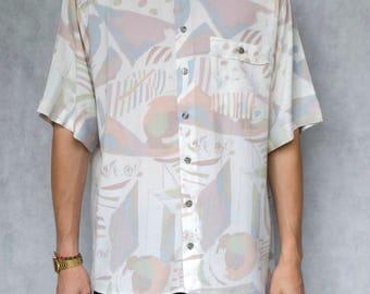 Vintage Pattern Shirt Size M