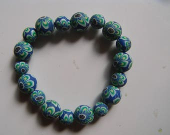Nice set of 3 bangles painted wooden beads