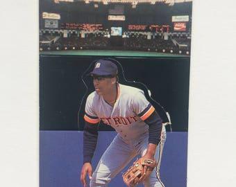 1986 Donruss Pop Up Lou Whitaker Detroit Tigers