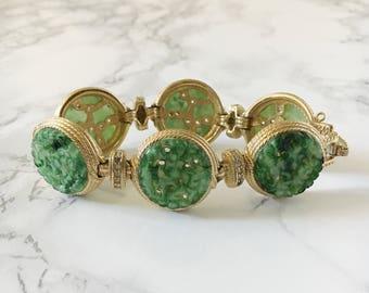 jadeite linked bracelet