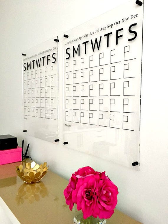 Acrylic Calendar Wall Calendar Dry Erase Calendar Large