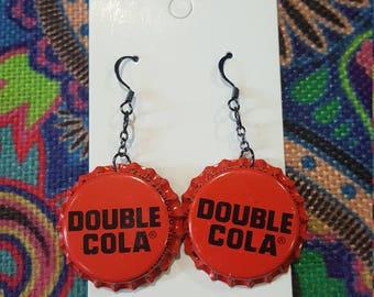 Double Cola Bottle Cap Earrings