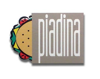 Piadina - Pizza sign, Shop sign, Wall signs, Food signs, Wooden sign, Sign kitchen, Pizza restaurant decor | Tropparoba - 100% made in Italy