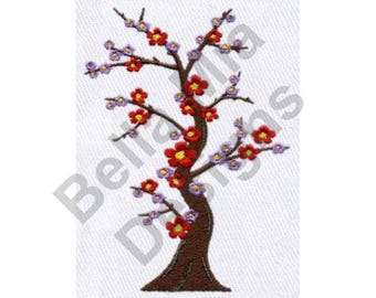 Asian Cherry Blossom - Machine Embroidery Design