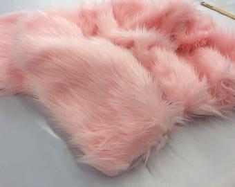 Supreme Luxurious Faux Fur Fabric Mongolian Design Fuschia Sold By Yard