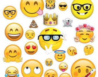INSTANT DWNLOAD- Emoji Clipart, Emoji Birthday, Emoji scrapbook, Emoji digital, Emoji party, Emoji Cut file, Emoji design, Emoticon