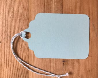 15 Handmade plain colour tags - Gift tags - Wedding favour tags - Baby shower tags - Birthday tags - Blue tags