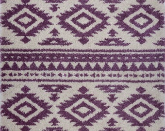 Area Rugs Contemporary KIDS room Living room Dining room Purple Carpet Rug 4x6 5x8 7x10