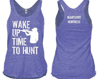Wake Up, Time to Hunt Tri-Blend Tank