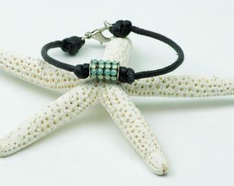 Wax Cord Bracelet, Bead Bracelet, Beaded Bracelet, Boho Bracelet, Boho Beaded Bracelet, Cord Bracelet, Trendy Bracelet, Swarovski Bracelet