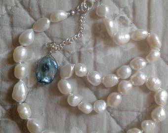 Freshwater baroque pearl choker