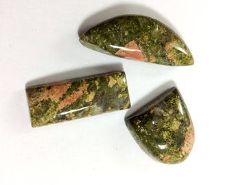 Unakite cabochons gemstone 12 to 30mm