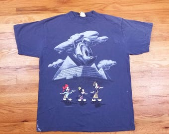 Vintage 90s Animaniacs Double Sided Egypt Pyramids T shirt Size XL