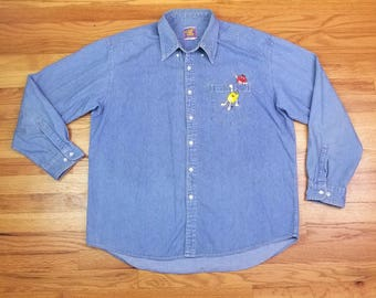 Vintage 90s M&M Denim Shirt Size XL