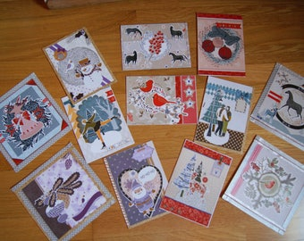Set of 12 greeting cards + envelopes