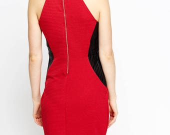 Women's Colour Block Bodycon Dress