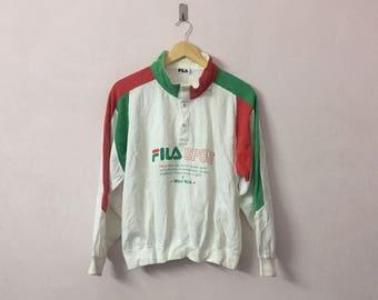 SALE ! Vintage FILA sweatshirt big logo spell out logo