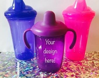 Custom Vinyl Sippy Cups