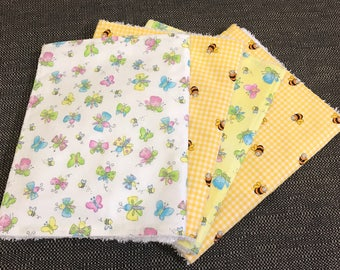 Baby burp cloths/girl