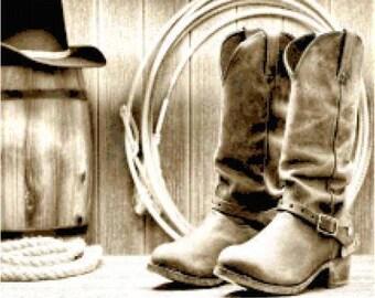 Cowboy Boots Cross Stitch Chart