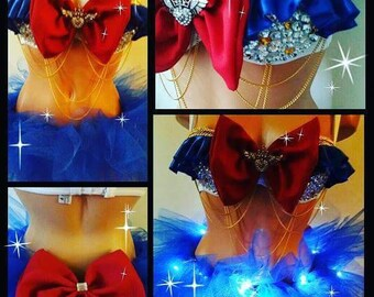 Made to order sailor moon  bra plus light up full tutu