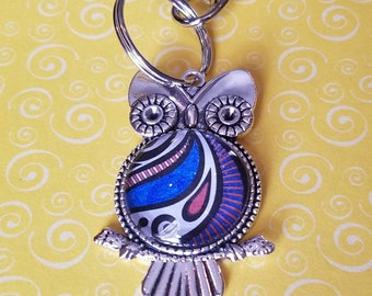 Vintage Tibetan Style Owl Necklace or Keychain *Liberty*