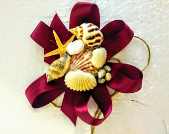 Beach inspired corsage