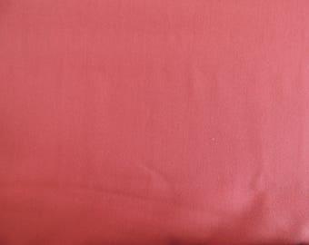 Brick red plain cotton fabric