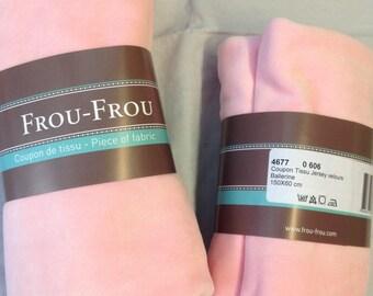 Light pink color velvet jersey fabric