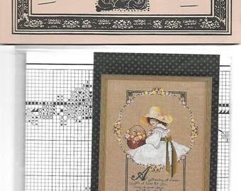 TOLD IN A GARDEN - A Gathering of Roses TG40- Cross Stitch Chart Pack with 26 Count Natural Linen by Marilyn Leavitt-Imblum - Never Used