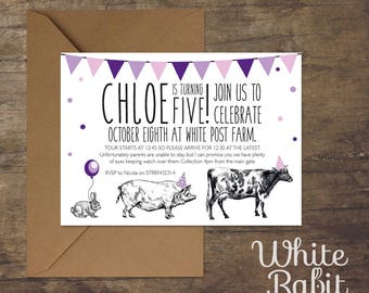 Printable Farm Animal Parade Invitation