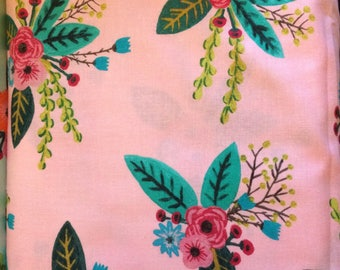 Windham Meriwether Amy Gibson Pink Teal Floral BTY Quilting Cotton