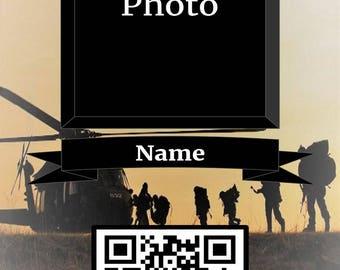Living Memories Military Memorial Card