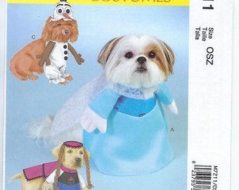 """McCalls 7211 - Pet Costume/""""Frozen"""" Characters - Sizes S, M, L, XL"""