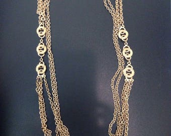 Vintage signed Monet gold tone chain