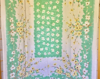 Vintage Tablecloth in Dogwood Pattern