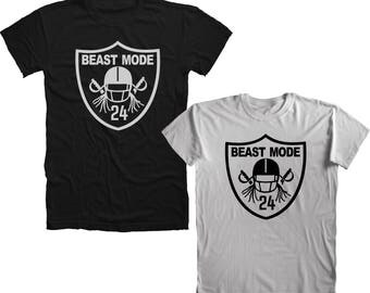 Beast Mode Marshawn Lynch 24 Oakland Raiders T-Shirt